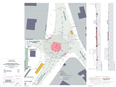 Plan rond point - Espace Wallonie Picarde